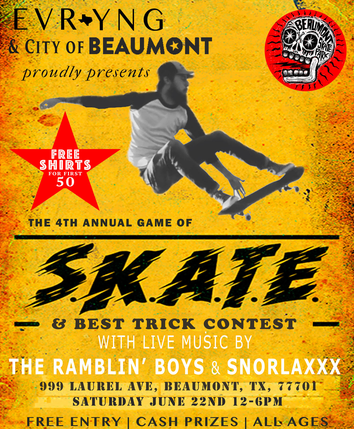 4th Annual Game of Skate w/ Live music