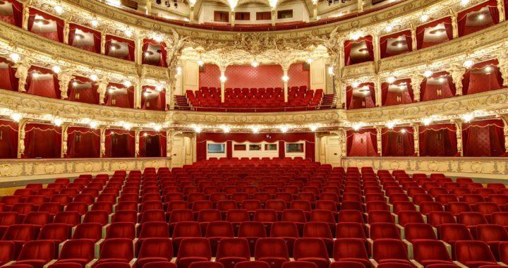 Empty auditorium in the theatre