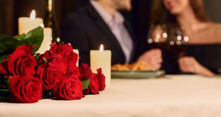 Make a reservation for Valentine celebration concept