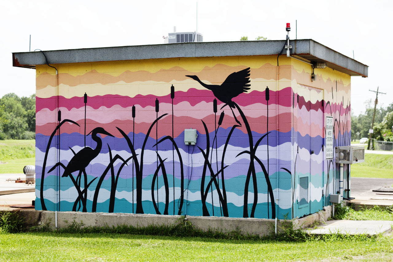 Cattail Marsh mural at 5200 Fannet Road by Kimberly Brown