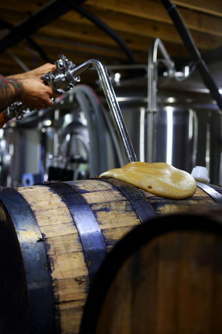 Buckstin Brewing Barrel Aging