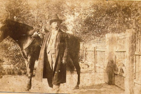 Ice House Museum exhibit Dr. Shine and his horse